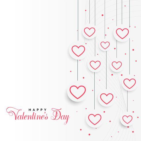 Valentinstag Hintergrund mit hängenden Herzen