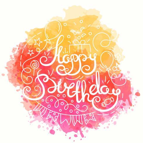 Joyeux anniversaire, conception de la typographie.