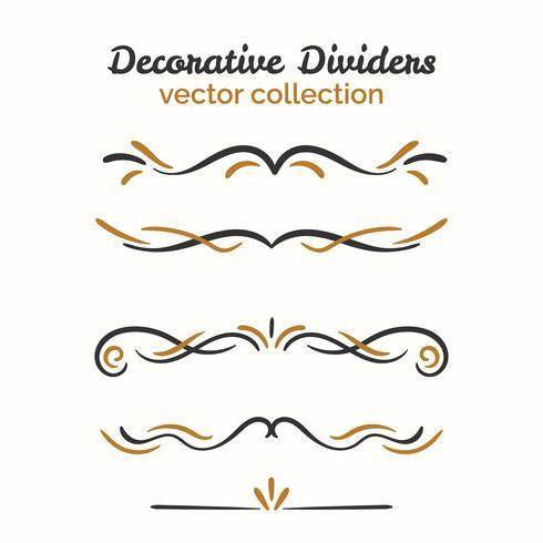 Ornamental decorative element set vector