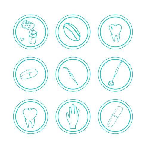 Hand drawn medical icons.