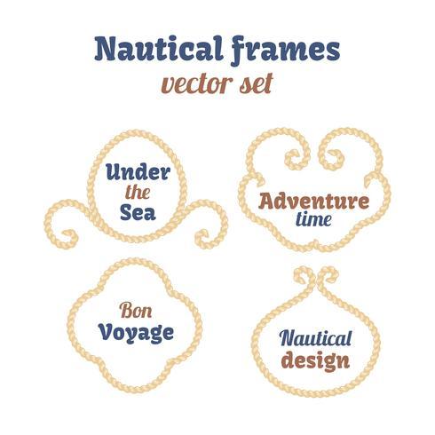 Conjunto de cuadros náuticos. vector