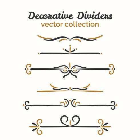 Elementos decorativos ornamentales vector