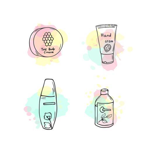Ilustración de cosmética orgánica