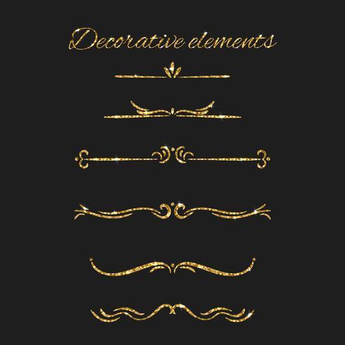 Conjunto de elementos decorativos ornamentales.