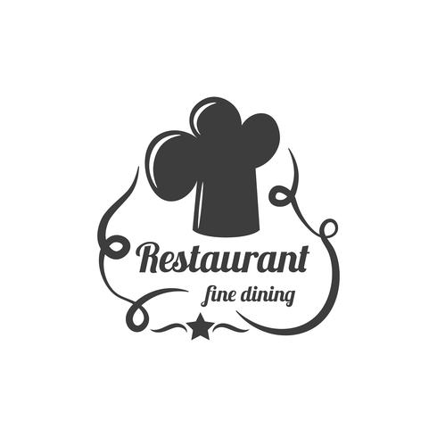 Restaurant Label. Food Service Logo. vector