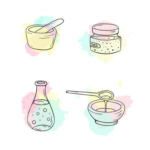 Illustration de cosmétiques bio
