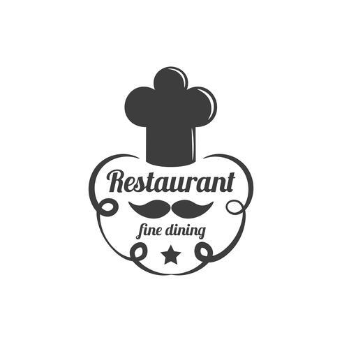 Ristorante Lablel. Logo del servizio di ristorazione. vettore