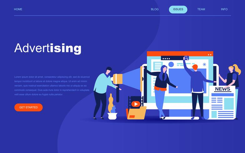 Modern flat design concept of Advertising and Promotion