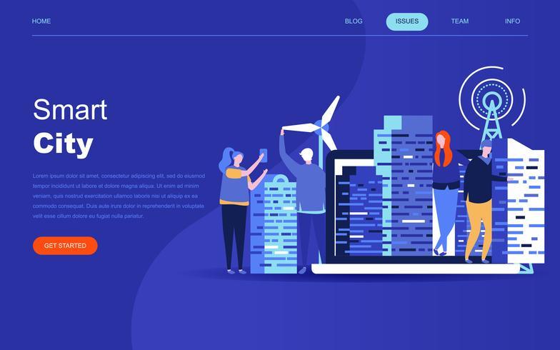 Modern flat design concept of Smart City