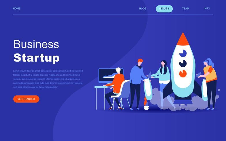 Moderno concepto de diseño plano de Startup Your Project.