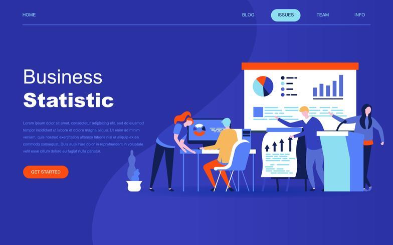 Concepto de diseño plano moderno de estadística empresarial para sitio web