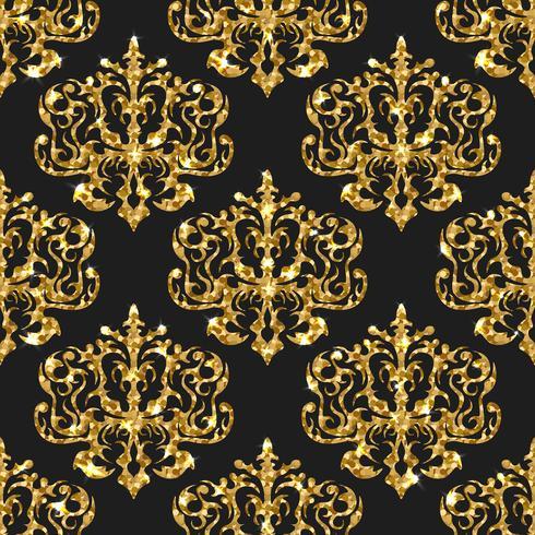 Patrón sin costuras brillo dorado