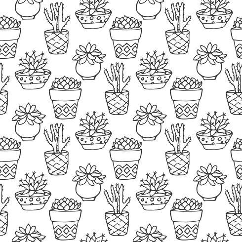 Modello senza cuciture di cactus
