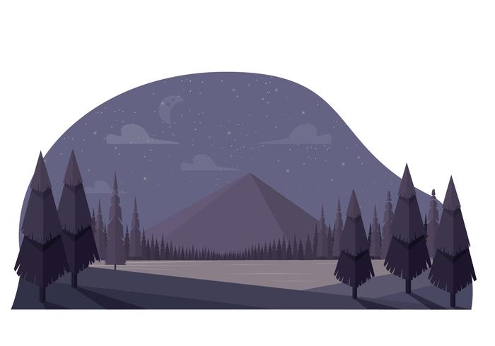 illustrazione vettoriale paesaggio primaverile