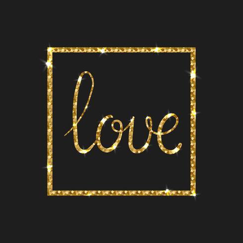 Tarjeta de amor Pincel de caligrafía moderna. vector