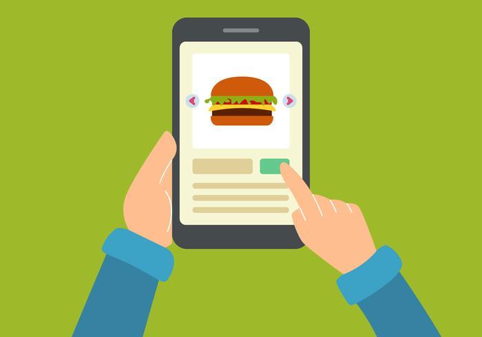 Vettori di ordine alimentare online fantastici