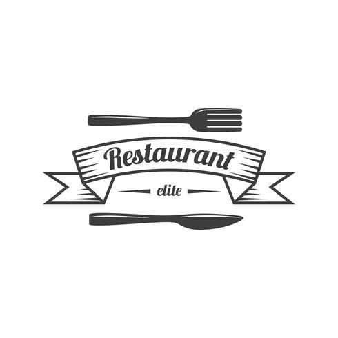 Logo di cibo ristorante etichetta alimentare vettore