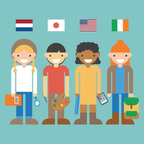 Students From Different Countries