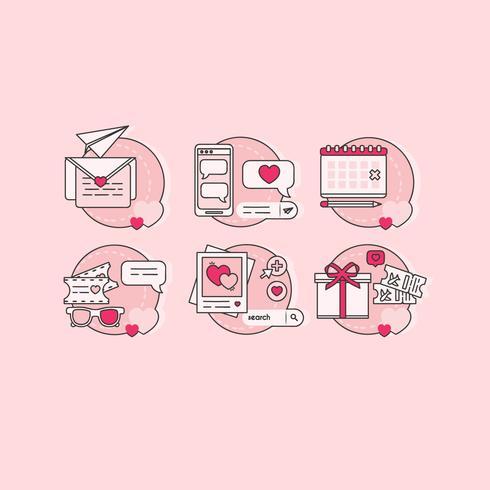 Vektor-Valentinstag-Icons