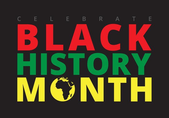Black History Month Ilustration vector