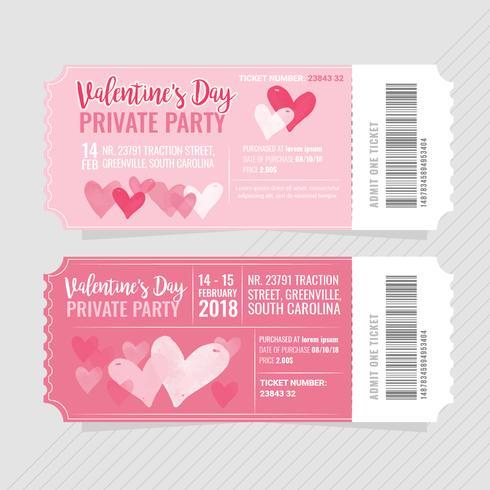 Vector biglietti per feste di San Valentino