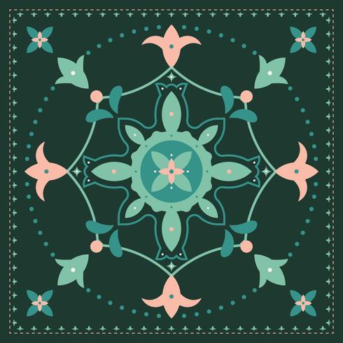 Vacker blomma Clipart Set Vector
