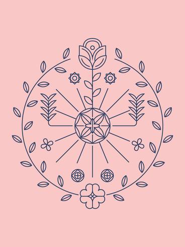 Hermosa flor clipart vector set