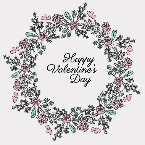 Couronne de jour de Valentine 'Vector