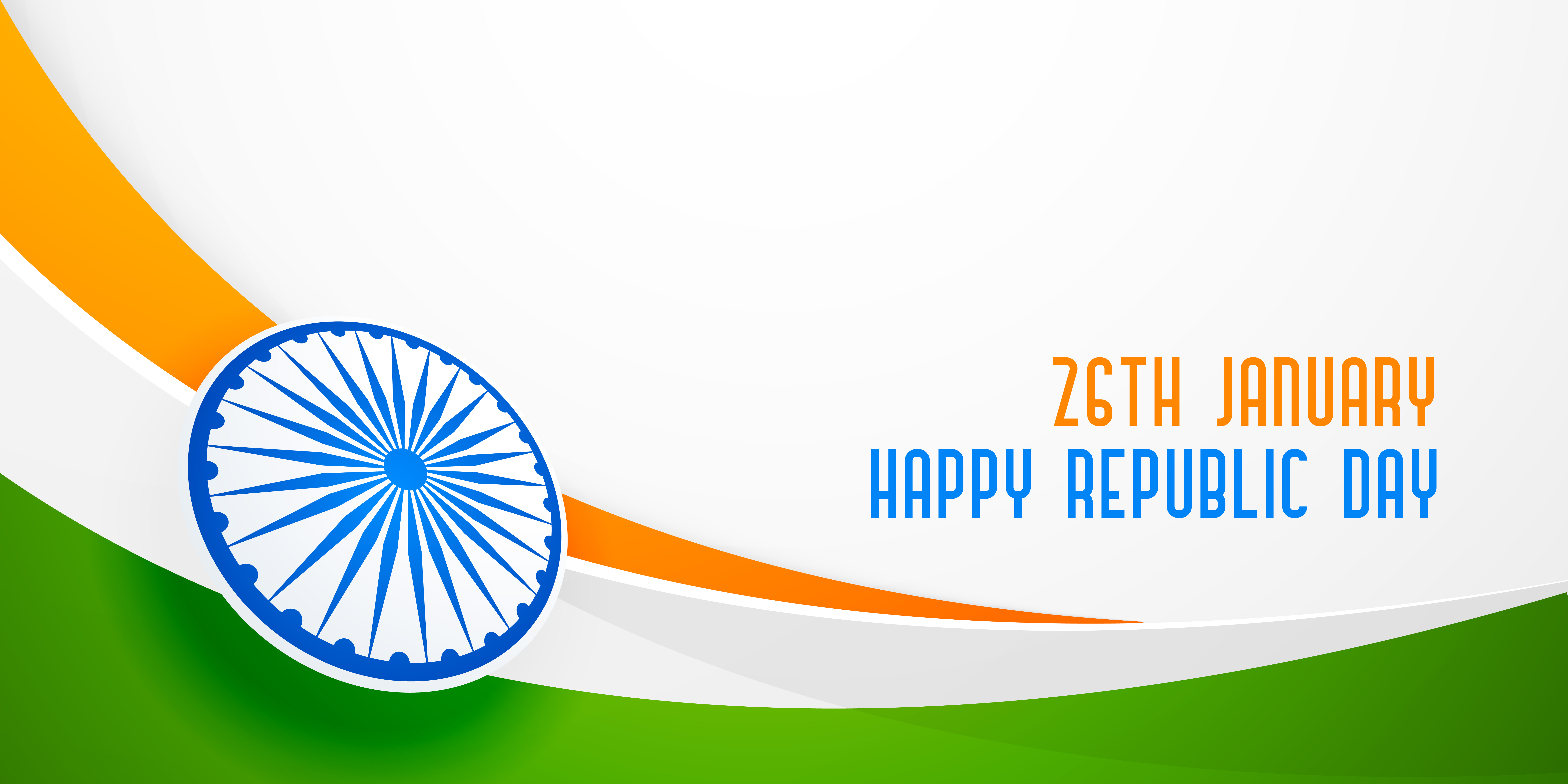 Creative Watercolor Indian Flag Background For Indian: Indian Flag In Wave Style For Republic Day