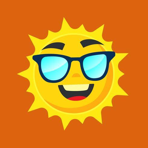 Soleil portant des lunettes