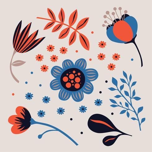 Blumen Clipart Pack vektor