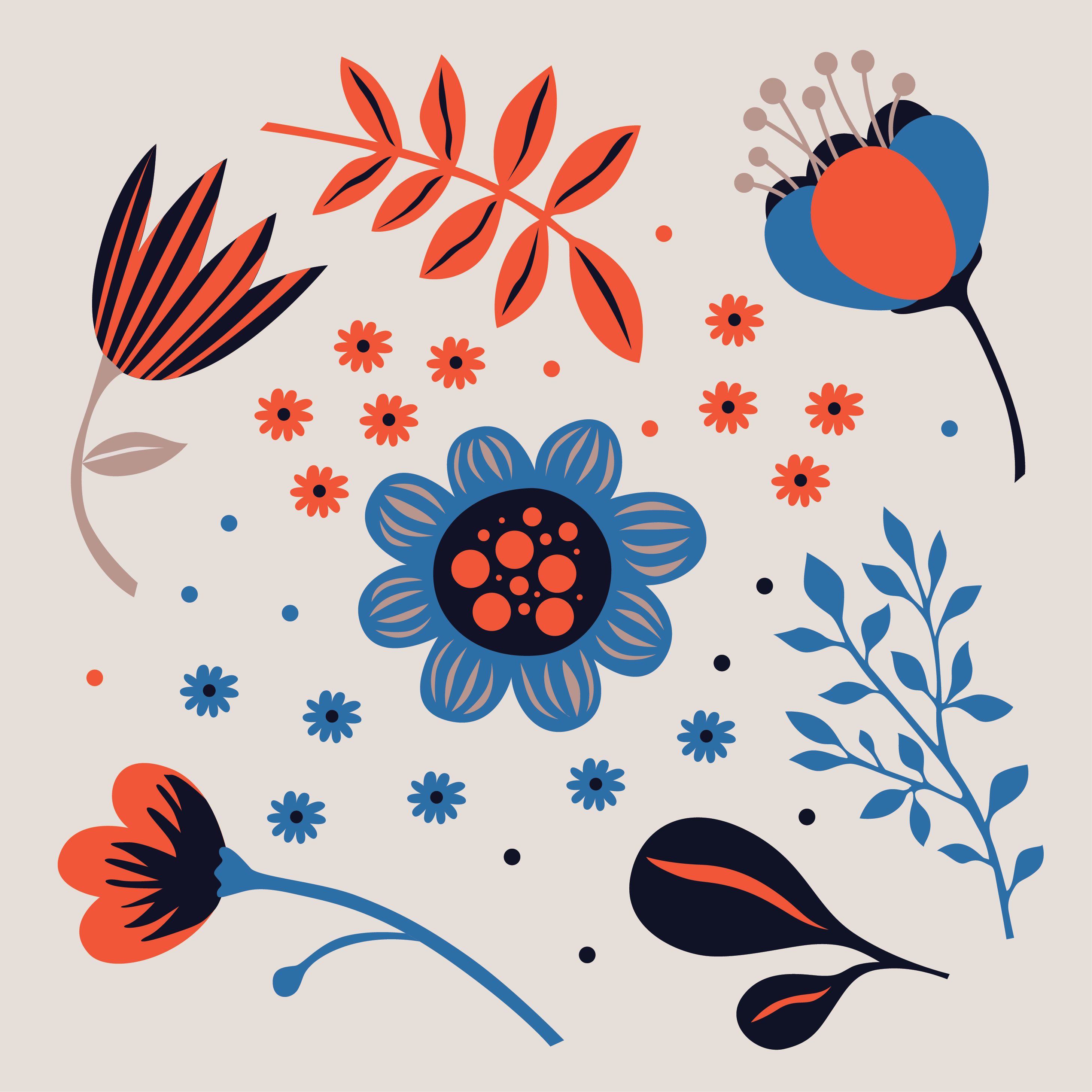 Flower Clipart Pack Download Free Vector Art Stock Graphics Images