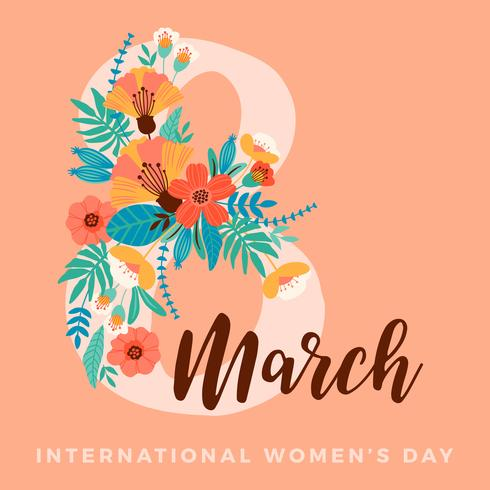 March 8th, International Women's Day Template vector