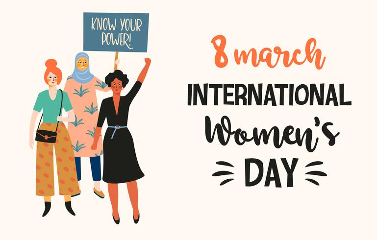 International Women's Day Background vector