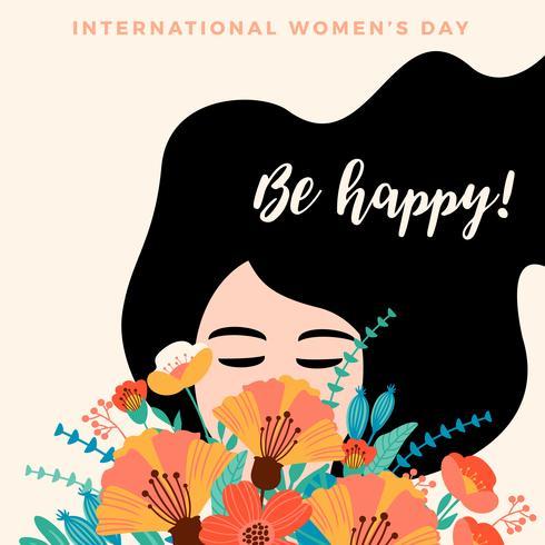 Dia Internacional da Mulher. Modelo de vetor
