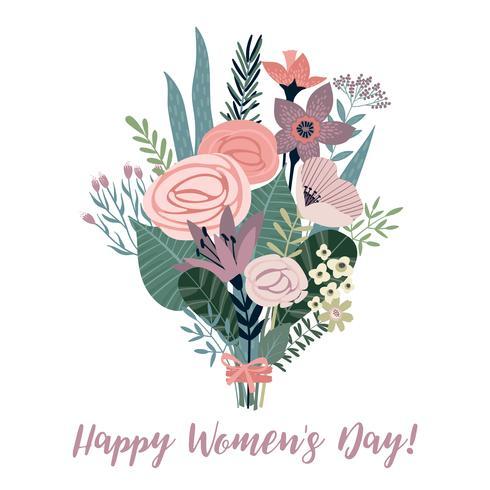 Día Internacional de la Mujer. Plantilla vector