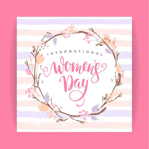 Giornata internazionale della donna. Modello vettoriale