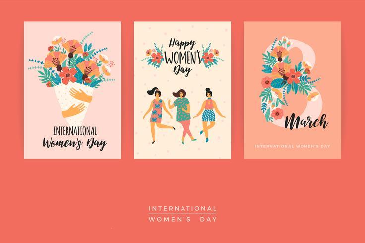 Día Internacional de la Mujer. Plantillas de vectores