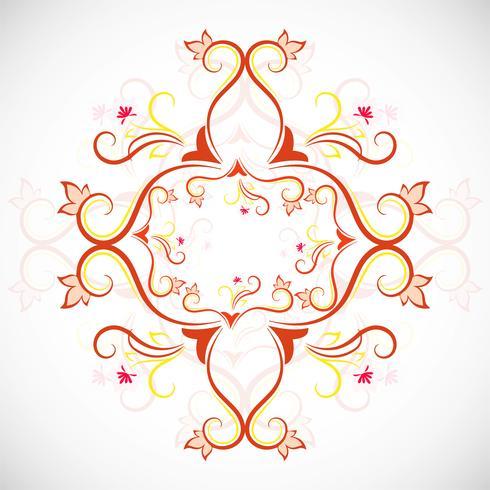 Decorative colorful floral design vector