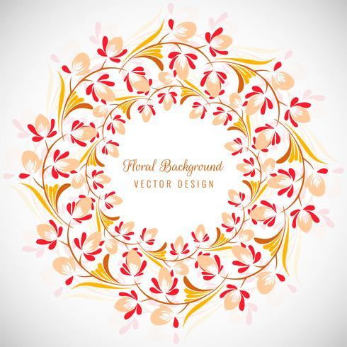 Decorative colorful floral frame background