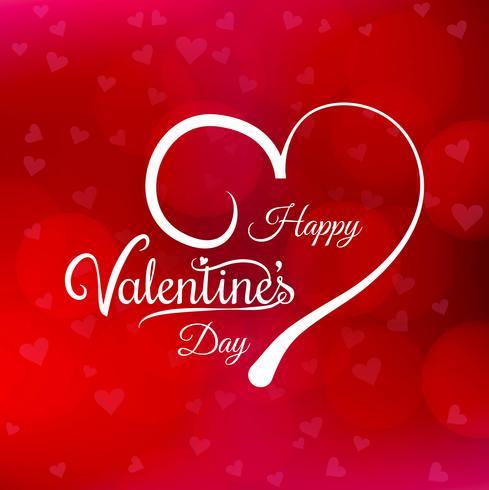 Illustrazione felice di progettazione di carta di amore di San Valentino vettore
