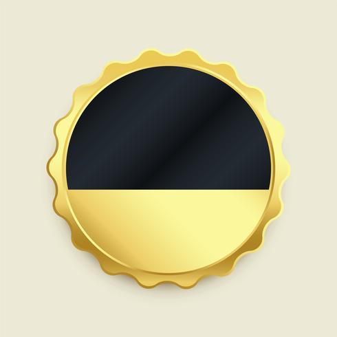 Leere goldene Abzeichen Label Premium-Taste
