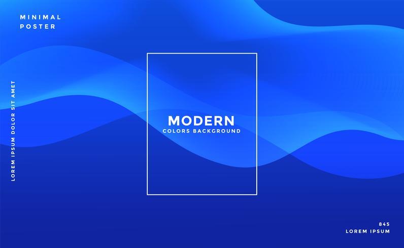 design de bandeira ondulada azul elegante