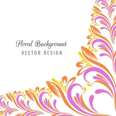 Decorative colorful floral design illustration