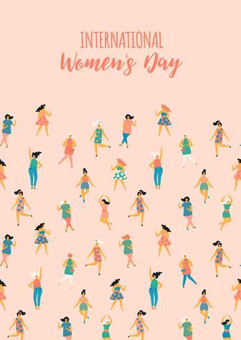 Día Internacional de la Mujer. Plantilla de vector