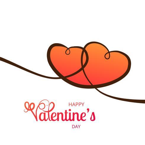 Liebeskartenherz-Designillustration des glücklichen Valentinstags
