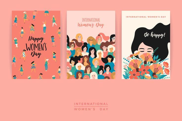 International Women s Day. Vector templates.