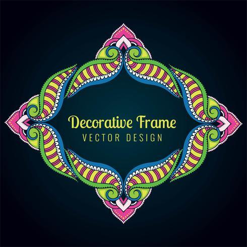 Bunte Blumenrahmendesign der dekorativen künstlerischen Gestaltungsarbeit