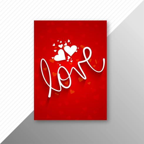 Valentines day colorful hearts card template design