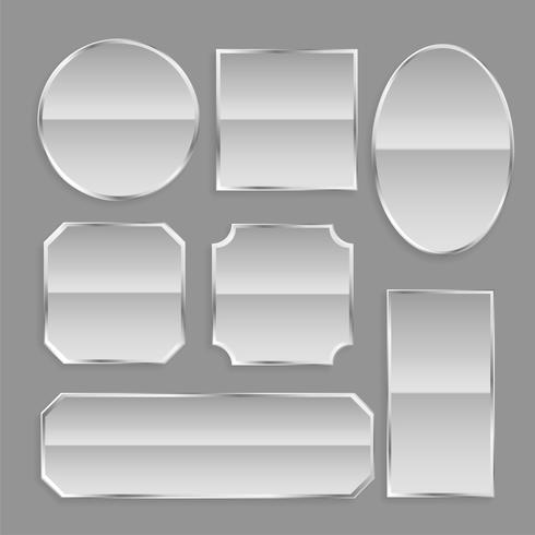 botões de armação de metal branco brilhante com reflexão